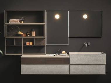Wall-mounted vanity unit with mirror SAN MARCO
