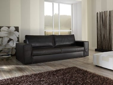 3 seater leather sofa SANDY-C | Sofa