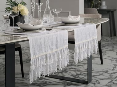 Linen Table runner SANGALLO | Table runner
