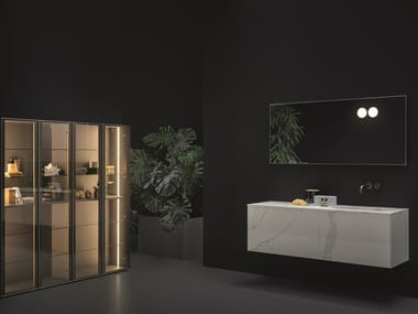 Wall-mounted vanity unit with mirror SANTA CROCE