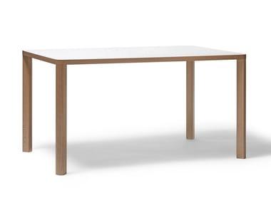 Rectangular beech table SANTIAGO 02   Rectangular table