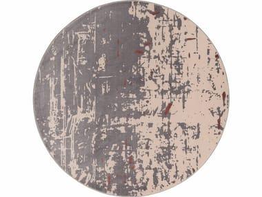 Patterned round velvet rug SAPORE DI VANIGLIA | Round rug