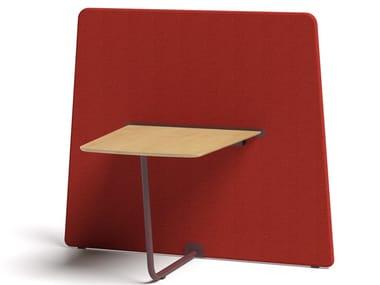Divisorio ufficio freestanding in legno in stile moderno SAREK   Divisorio con tavolo