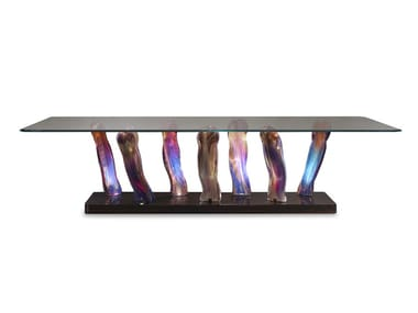 Rectangular glass dining table SASSI | Table