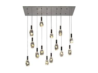 Lampada a sospensione a LED in vetro di Murano SASSI | Lampada a sospensione