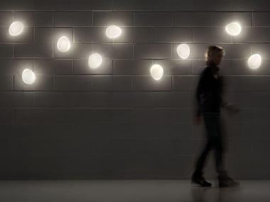 Applique a luce diretta in vetro laminato SASSO | Applique