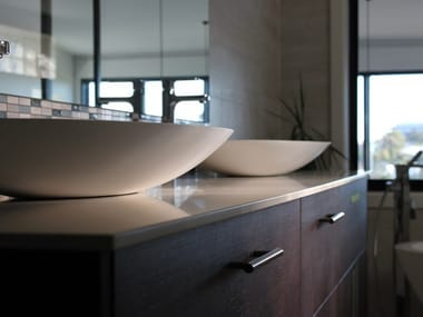 Plan de toilette en Lapitec® SATIN - BIANCO POLARE | Plan de toilette