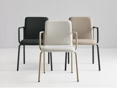 Fabric chair with armrests SAVE 18 FB