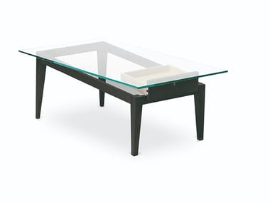 Rectangular wood veneer coffee table SBILENCO | Coffee table