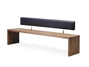 Sitzbank aus Holz mit Rücken SC02   Sitzbank mit Rücken