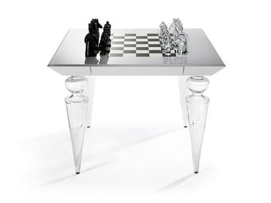 Murano glass chess table SCACCHI | Game table