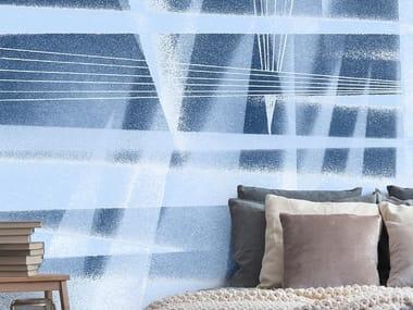 Papel de parede adesivo antialérgico ecológico de tecido estilo moderno SCHEGGE DANZANTI