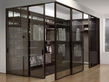Sliding glass cabinet door for walk-in wardrobes SCREEN | Glass cabinet door