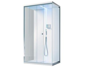 Box doccia angolare rettangolare in vetro con piatto SCURETTO 812