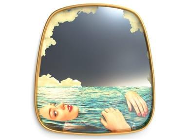 Framed wall-mounted mirror SEA GIRL | Mirror