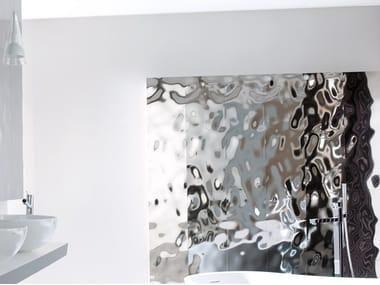 Revêtement mural 3D effet métal SEA SILVER