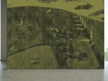 Papel de parede ecológico com suporte de reboco com paisagem SEASON 1 KW1604