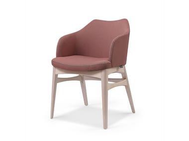 Cadeira estofada de tecido com braços SEBASTIAN CB