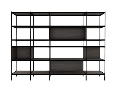 Open freestanding office shelving SEC - LIB015