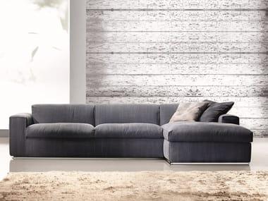 Divano componibile in tessuto con chaise longue STEVE | Divano componibile
