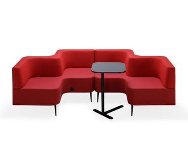 Sectional fabric sofa RIPPLE | Sectional sofa