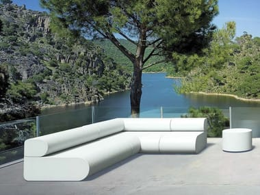 Sectional modular coated foam sofa BOO | Modular sofa