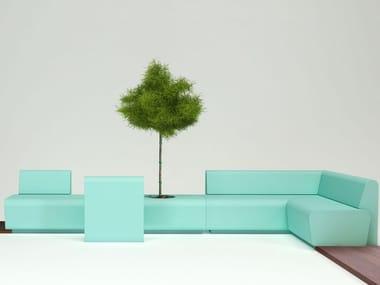 Sectional coated foam sofa STRIP | Sectional sofa