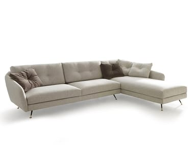 Sectional fabric sofa with chaise longue DUKE | Sectional sofa