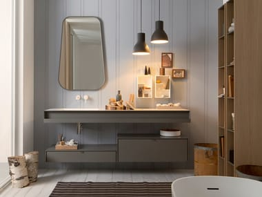 Lacquered vanity unit with drawers SAINT TROPEZ | Sectional vanity unit