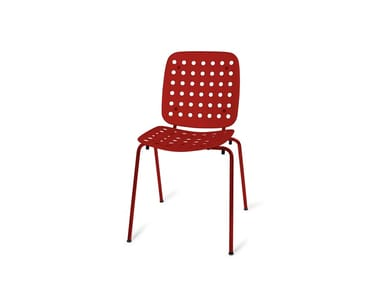 Stackable metal chair with linking device L54