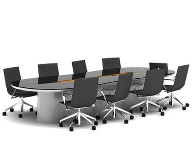 Lacquered oval meeting table STREEM   Meeting table