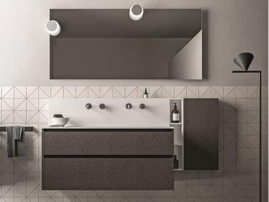 Mobile lavabo sospeso in nobilitato con cassetti SEGNO | Mobile lavabo in nobilitato