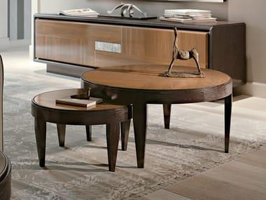 Tavolino rotondo in legno SEGRETI S1090 | Tavolino