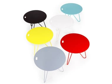 Round steel coffee table SEIS