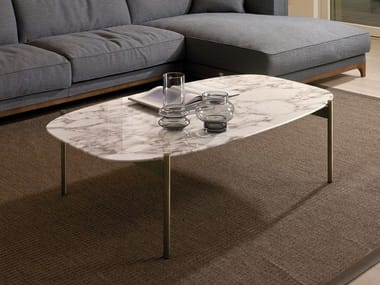 Marble coffee table for living room SELFY | Rectangular coffee table