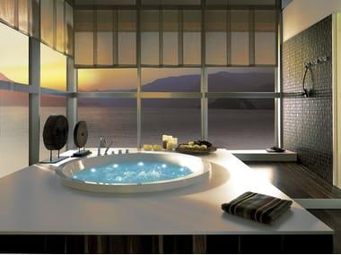 Semi-inset acrylic bathtub SOLEIL ROUND | Semi-inset bathtub