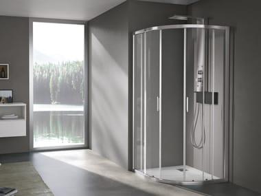 Cabine de douche semi-circulaire à portes coulissantes FORTY | Cabine de douche semi-circulaire