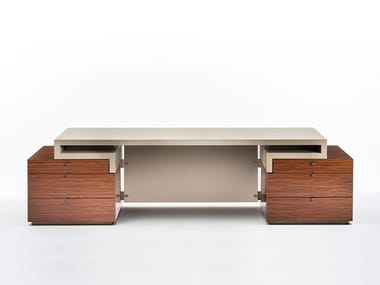 office table with drawers. Rosewood Executive Desk With Drawers SENATO | Office Table L