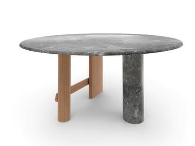 Tavolo in legno e marmo SENGU | Tavolo