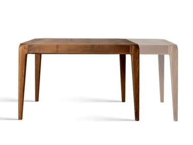 Extending square solid wood dining table SENTIERO B-151