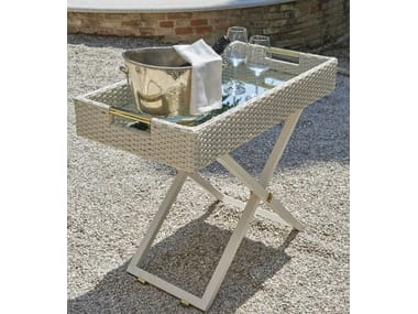 Height-adjustable garden side table SERVANT | Rectangular coffee table