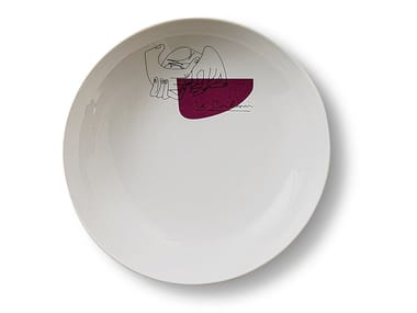 Porcelain deep plate GNR SERVICE PRUNIER | Deep plate