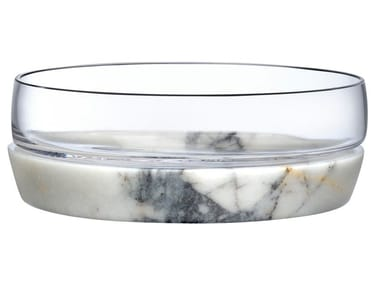 Crystal bowl with marble base CHILL | Serving bowl
