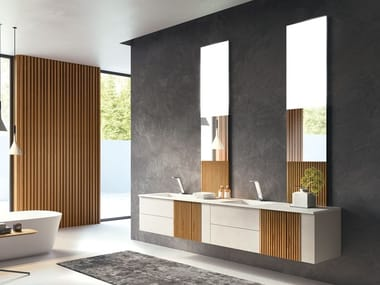 Wall-mounted vanity unit with drawers SESSANTA