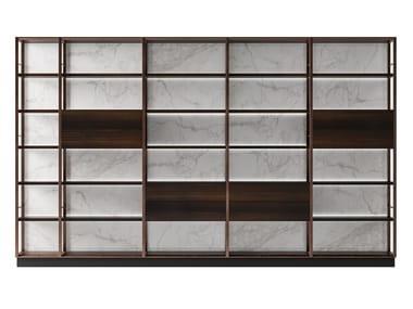 Open metal and wooden bookcase SESTO SENSO | Bookcase