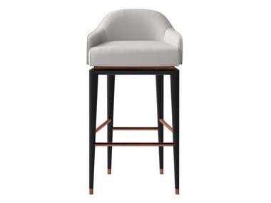 High leather and metal stool SESTO SENSO | Stool