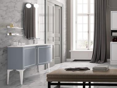 Mobile lavabo in legno con specchio SETA 14   Mobile lavabo