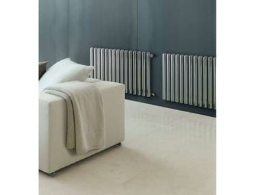 Horizontal wall-mounted stainless steel decorative radiator SETA | Horizontal decorative radiator