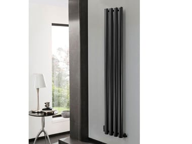 Vertical wall-mounted stainless steel decorative radiator SETA | Vertical decorative radiator
