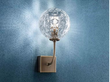 Glass and metal wall lamp SEVENTIES | Wall lamp